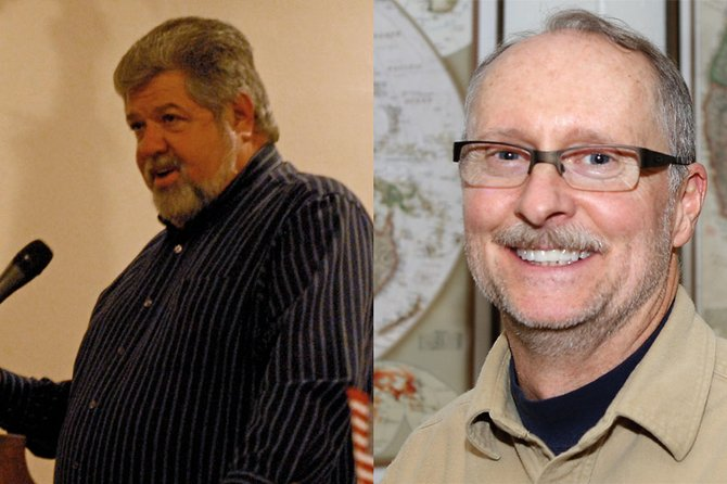 Moffat County Commission district 1 candidates Dave DeRose, left, and John Kinkaid, right.
