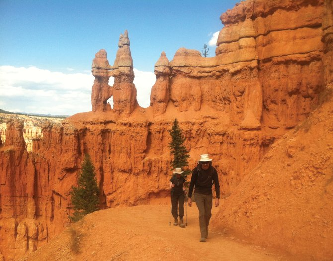 Encountering hikers from abroad is commonplace in Bryce Canyon National Park in Utah.