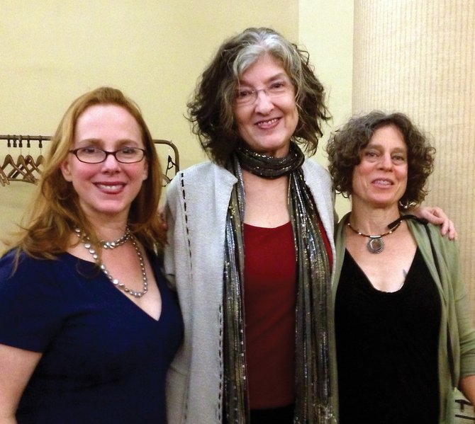Authors Hillary Jordan, left, and Naomi Benaron, right, pose with Barbara Kingsolver, the author who founded the Bellwether Prize they both received. Jordan and Benaron will speak at a free Bud Werner Memorial Library event at 10:30 a.m. Sunday about their novels on social justice issues.