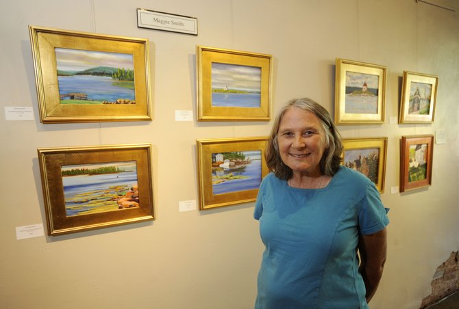 Plein-air painter Maggie Smith and her artist friend Annie Meyer, not pictured, will be showing their work from 5 to 8 p.m. Friday at the Artists' Gallery of Steamboat.