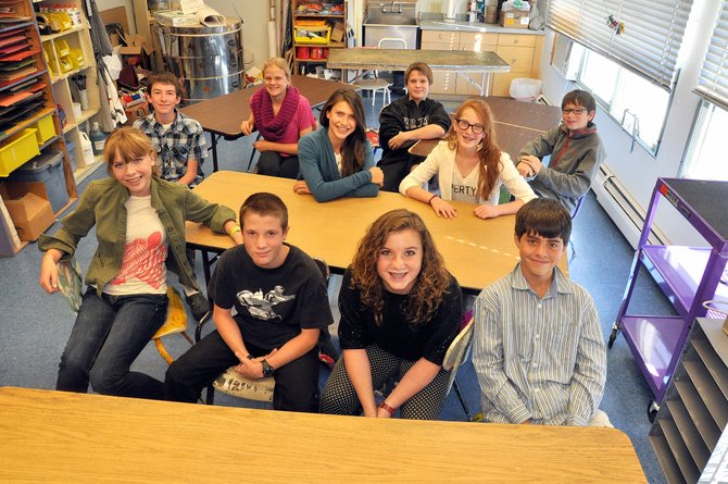 Eighth-graders at Emerald Mountain School will serve as ambassadors at the campus's fundraising auction Saturday night. Proceeds from the auction will support the tuition assistance program at the small private school.