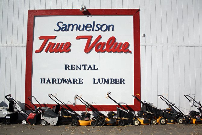 Samuelson True Value Hardware, located at 456 Breeze St. in Craig, sells a selection of hockey equipment year round, but generally sees an increase in sales in the winter months when the ice rink is open.