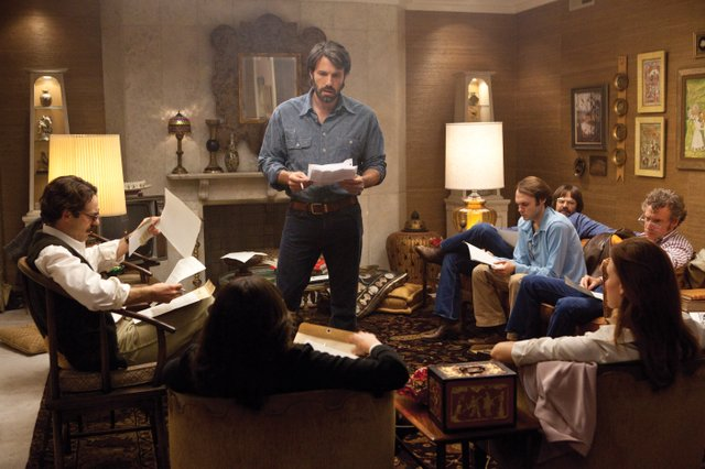 "CIA operative Tony Mendez (Ben Affleck) briefs American diplomats on his agenda in ""Argo."" The movie is about the CIA's efforts to covertly smuggle six members of the United States Embassy in Iran out of the country following the 1979 revolution."