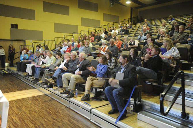 Voters and candidates attend a candidates forum Thursday night at Colorado Mountain College's Alpine Campus in Steamboat Springs.