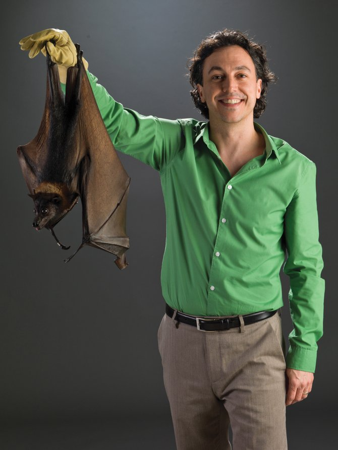 Bat specialist Rob Mies returns to Bud Werner Memorial Library on Sunday for two live bat programs featuring ambassador bats from around the world.