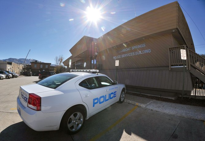 A police cruiser sits outside the Steamboat Springs Police Department headquarters on Yampa Street. City officials are working to bring the Steamboat Springs City Council more options to relocate emergency services out of the building. BIg Agnes is currently in negotiations to purchase the building.
