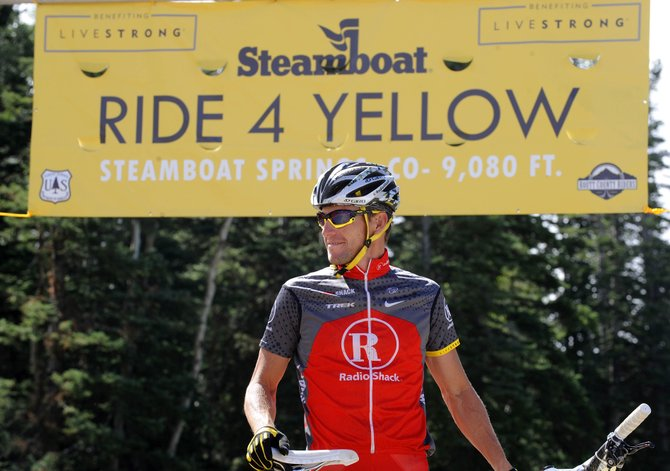 Lance Armstrong shares a smile with the crowd gathered at the finish area of the 2010 Ride 4 Yellow Ride the Divide event. After the release of the U.S. Anti-Doping Agency's scathing report that establishes Armstrong as the kingpin in one of the most elaborate doping sagas in sports history, it remains to be seen where things go from here with Armstrong and the cancer-fighting Livestrong foundation he established.
