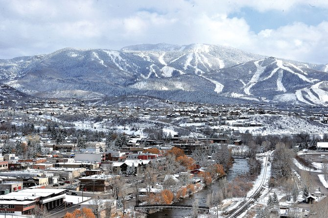 The two-day storm that rolled in Wednesday left 14 inches of snow at Steamboat Ski Area. The mountain also began snowmaking operations Friday morning.