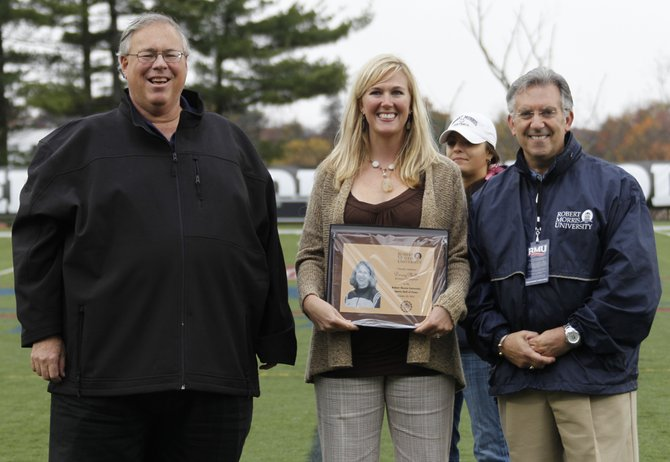 Steamboat Springs resident Darcey Johnston was inducted into the Robert Morris athletic Hall of Fame in October. Johnston, a setter, played at Robert Morris from 2001 to 2004 and was a three-time All-Northeast Conference Selection.