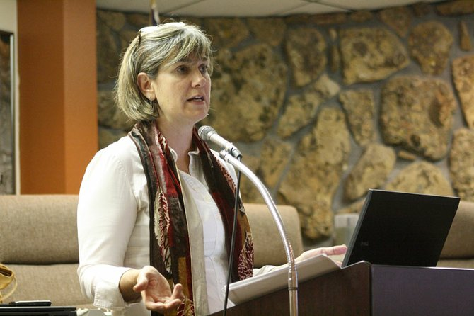 Sue Birch, Executive Director of Health Care Policy and Financing for the State of Colorado spoke to Craig residents  about the changes coming with the advent of state and national health care reform Friday at the City Council Chambers.