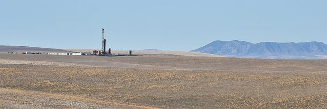 The Routt County Planning Commission voted, 8-1, to approve Shell Oil's new Trout Creek well. It must still go to the Routt County Board of Commissioners on Nov. 20 for final consideration. Shell currently is drilling the Dawson Creek well, pictured above, south of Yampa Valley Regional Airport.
