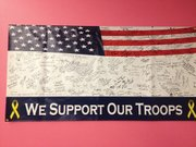 When Thunder Rolls Bowling Center hosted a Bowl for Veterans event in 2010, this flag was signed by the participants and members of the community who showed up to the event. Thunder Rolls has another flag ready for the 2012 Bowl for Veterans, taking place from noon to 4 p.m. Sunday.