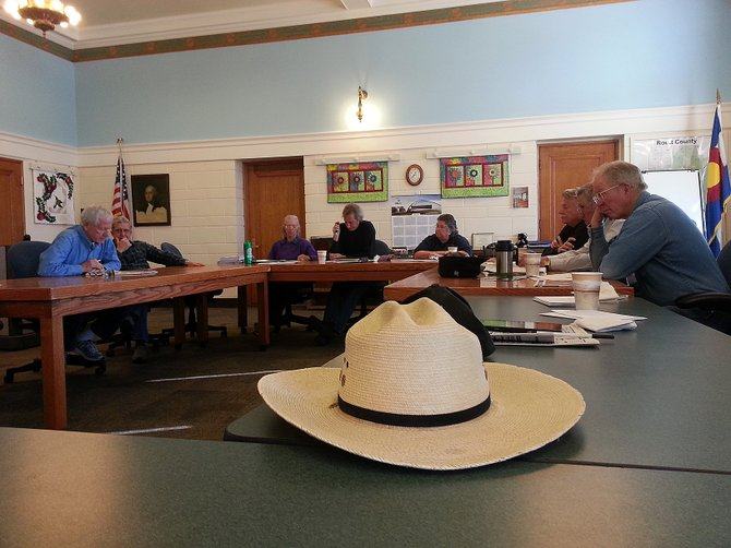Routt County Republicans talk during a monthly meeting Wednesday about