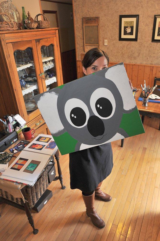 Artist Susanmarie Oddo her Steamboat II home.