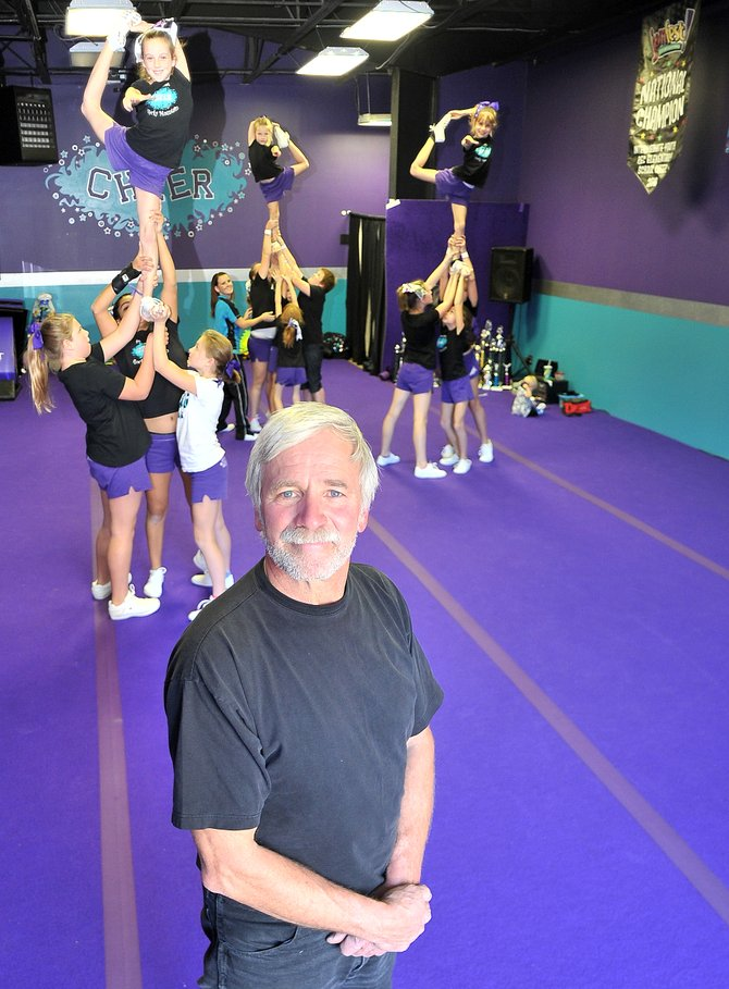 After closing his gym in 2007, Dan Atkins is returning to help Steamboat Rocky Mountain Cheer. 
