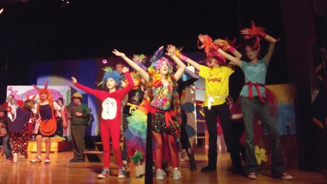 The Eastern Rio Blanco Metropolitan Recreation and Park District's Center Stage Youth Theatrical Group rehearses Seussical Jr. the musical, in preparation of its debut at 6 p.m. Friday at the Meeker High School Auditorium, 500 School St.