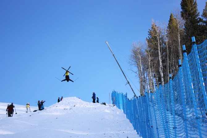 Steamboat Springs Winter Sports Club freestyle skier Michael DeGrandis does a back X at an all-star camp in Vail. DeGrandis was one of three Steamboat athletes to attend the camp, with an eye on December&#39;s U.S. selections event. 