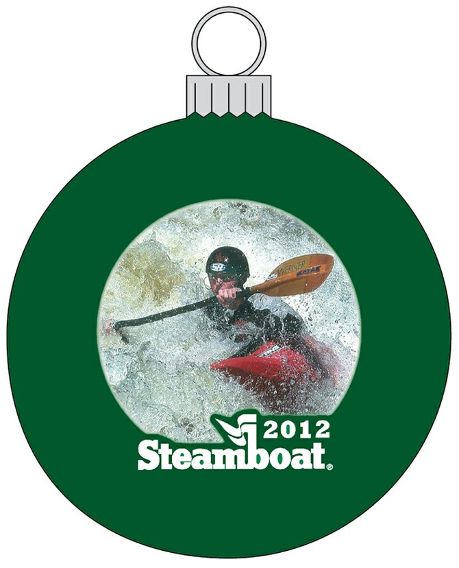 Kayaker Clay Whiddon is featured in the 2012 Steamboat Kiwanis Club holiday ornament.