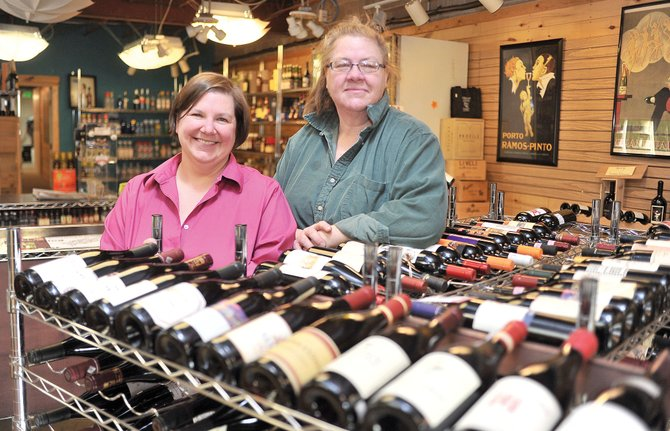 Stephanie Reineke, right, and Lori Bourgeois have decided to close Cellar Liquors in downtown Steamboat Springs.