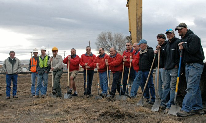 On Wednesday the Craig Rural Fire Protection District Board hosted a ceremonial ground breaking with local contractors and city officials at its live fire training site on Industrial Ave. behind Kmart. 
