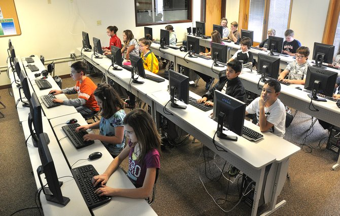 Sixth-graders at Steamboat Springs Middle School work Wednesday during a technology class. The school has been named a John Irwin School of Excellence for the sixth year in a row by the Colorado Department of Education.