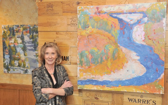 Local artist Pat Walsh will display her work during a show at Harwigs during the month of December.