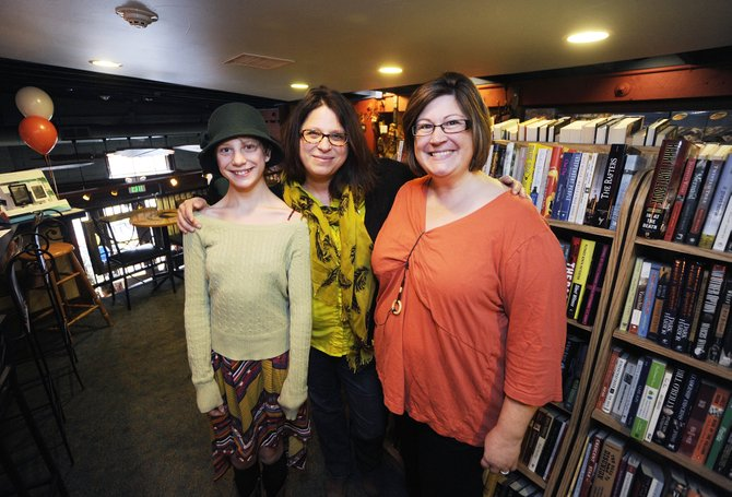 As part of National Novel Writing Month in November, Delaney Ziegman, from left, Mical Hutson and Sherry Larson completed 50,000 words of their novels-in-progress.