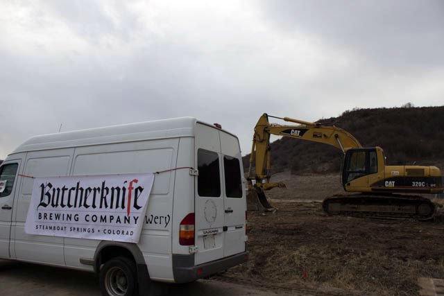 Butcherknife Brewing Co. broke ground Wednesday on its new building on Elk River Road.