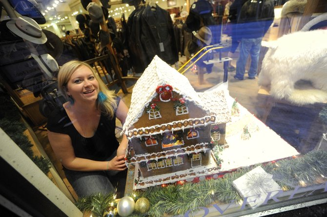 Sarah Seguin's gingerbread house can be seen at Overland Sheepskin Co.