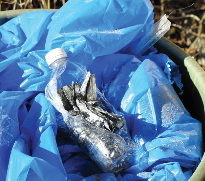 Oak Creek Fire Protection District Chief Chuck Wisecup said in November that the devices found were plastic bottles filled with aluminum foil and a cleaning agent suspected to be toilet bowl cleaner.