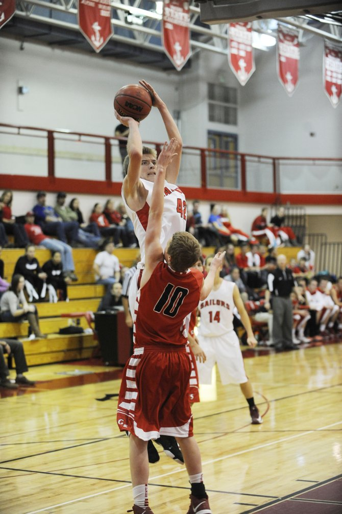 Steamboat Springs High School sophomore Matthew Lanning puts up a shot during Saturday's game against Glenwood Springs.