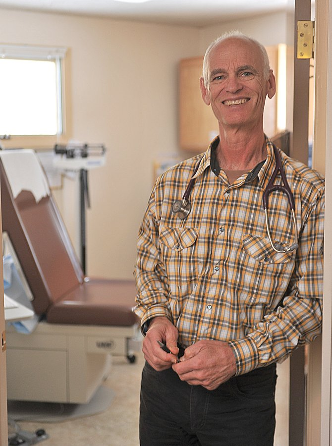 Dr. Dan Smilkstein stands outside an exam room at Oak Creek's South Routt Medical Center, where he has been named director.