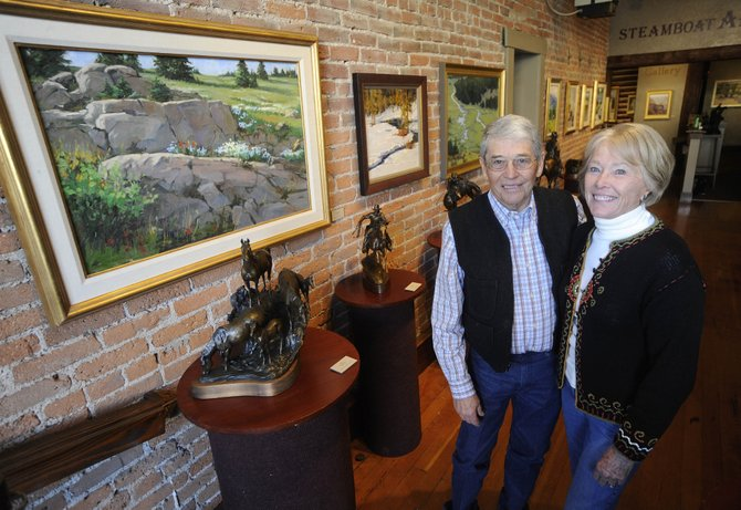 Curtis Zabel, left, and Jean Perry will display their artwork at Steamboat Art Museum through April 13. The public opening is from 5 to 8 p.m. Friday.