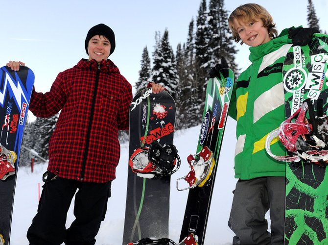 Billy Winters, left, and Cody Winters currently compete in all five kinds of snowboard competitions. Billy, now 15 years old, is getting pressure to specialize, and Cody will have to make those same decisions soon, too. Neither is keen on rushing that process, however.