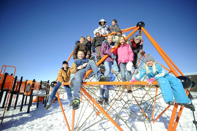 Hayden Valley Elementary School students are getting a lot of use out of the new playground equipment that was purchased primarily using grants.