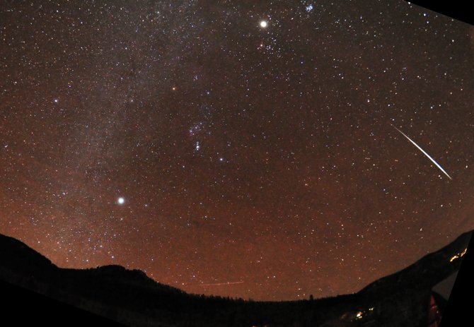 This month&#39;s Geminid meteor shower produced more than 100 meteors per hour, including the bright fireball captured in this image on Dec. 14. The Quadrantid meteor shower peaks next week and favors folks living inthe Western U.S. Photo by Jimmy Westlake, 2012.