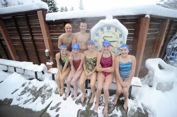Members of the Old Town Hot Springs year-round swim team are hoping to improve at their sport by swimming through the cold Steamboat Springs winters.