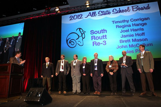 Members of the South Routt School Board were recognized in Colorado Springs as the top school board in the state by the Colorado Association of School Boards.