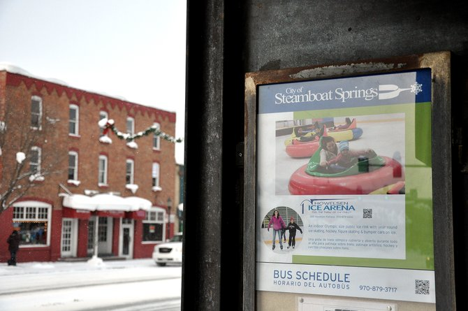 New signs equipped with QR codes have been installed at downtown bus shelters to market Steamboat Springs' public recreational facilities.