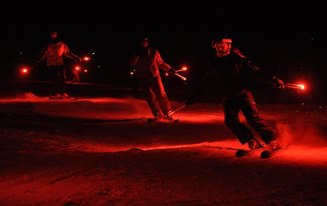 Skiers come down Steamboat Ski Area on Monday evening as part of the annual New Year's Eve Torchlight Parade. The holiday kept Steamboat Springs law enforcement officers busy, and five people started the new year in Routt County Jail.