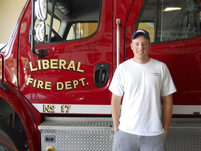 Hayden native Brad Parrott recently was named rookie of the year at the Liberal Fire Department in Kansas.