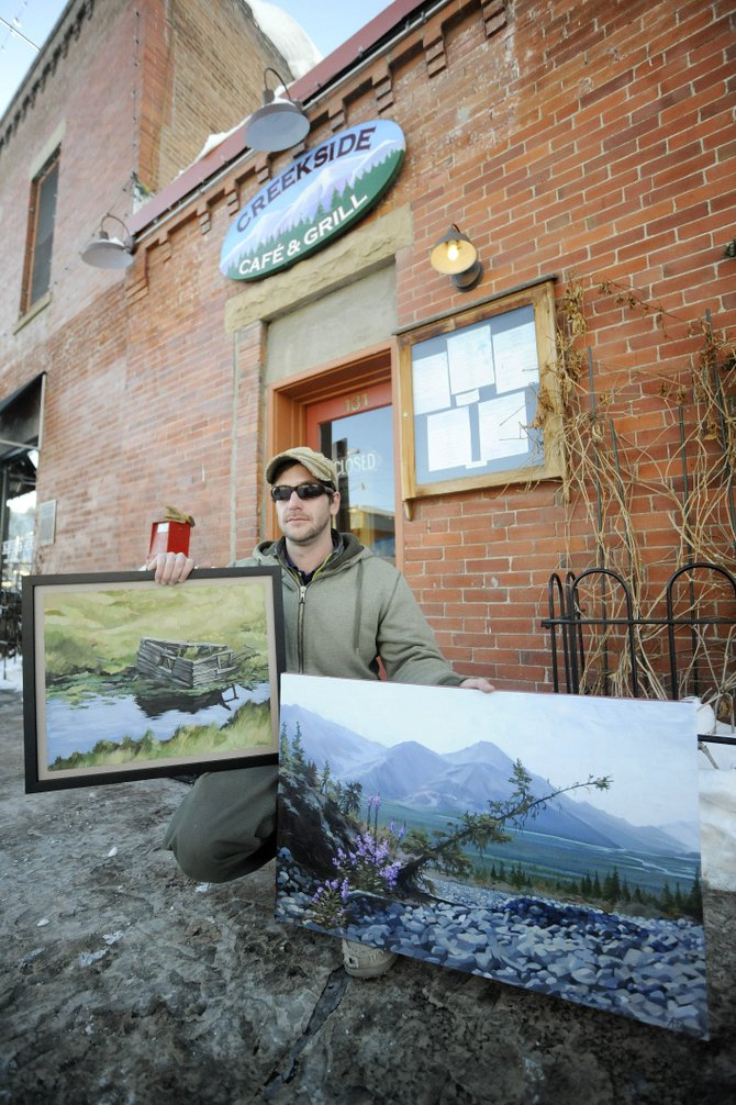 2000 Steamboat Springs High School graduate Adam Strong will be hanging his first show at Creekside Cafe & Grill. An opening takes place during First Friday Artwalk on Friday from 5 to 8 p.m.
