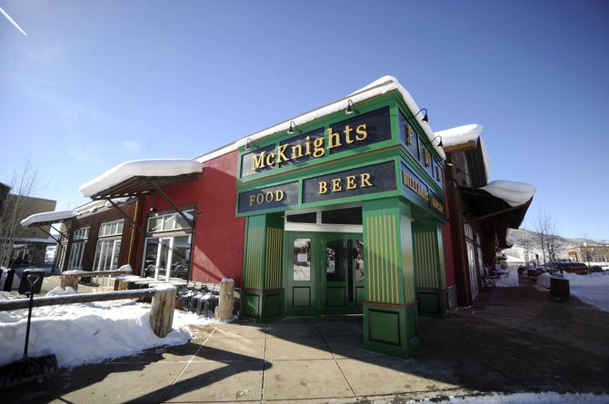 McKnight's Irish Pub & Loft has undergone exterior changes that manager Kerry Shea said bring it in line with its original vision of an authentic Irish pub. McKnight's isn't the only Wildhorse Marketplace business going through changes as the center sees new activity.