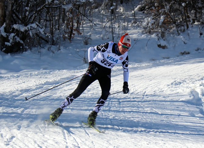 Evan Weinman competes during the U.S. Cross-Country Nationals at Soldier Hollow, Utah, this weekend. Weinman now will travel to Norway to train and compete with the U.S. Ski Team.