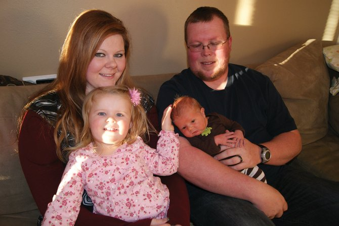 Chris and Amber Fross, along with big sister Shaelynne, 2, welcomed little brother Khyler Edmond Fross Jan. 4. Khyler was the first baby to be born in Craig in the new year.