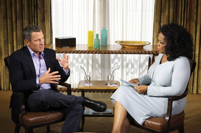 Lance Armstrong discusses his use of performance-enhancing drugs and confesses to doping Monday with Oprah Winfrey during an interview that will air Thursday and Friday. 