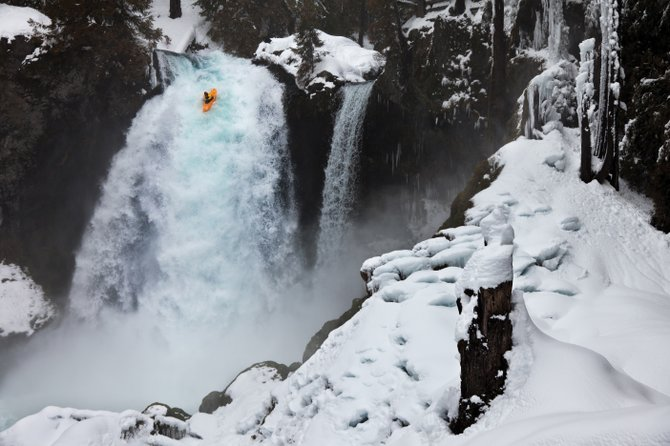 "Erik Boomer kayaks Sahalie Falls on the McKenzie River in Oregon in the film ""The Nomad,"" a short documentary screening during the Saturday matinee portion of Mountainfilm on Tour this weekend at Bud Werner Memorial Library Hall."