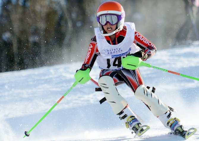 Nicholas Richeda skis Saturday in a Steamboat Cup event at Steamboat Ski Area.