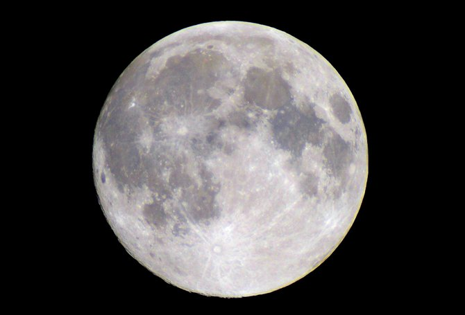 This year's full Snow Moon is Saturday night. The Snow Moon will shine all night long, rising over the eastern mountains at sunset and setting behind the western mountains at sunrise.