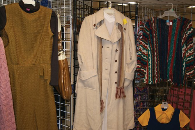 Vintage clothes hang on display at The Community Budget Center in Craig. Seniors can get 50 percent of their clothing purchases every Tuesday at the CBC.